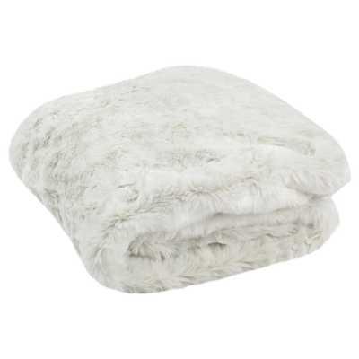 Safavieh Faux Chinchilla Snow 60 in. x 72 in. White Throw, Snow White - Home Depot
