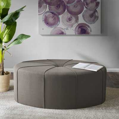 """Telly 48.5"""" Wide Tufted Oval Cocktail Ottoman - Wayfair"""