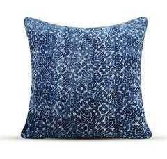 Dhurrie Ink Blue Pillow - High Fashion Home