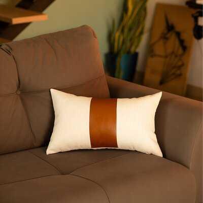 Alvarenga Rectangular Faux Leather Pillow Cover - Wayfair