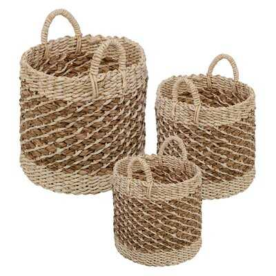 Wicker 3 Piece Nesting Storage Basket Set - Birch Lane