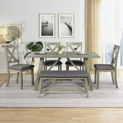 Earlscourt 6 - Piece Counter Height Dining Set - Wayfair