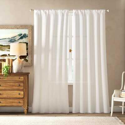 Birdsall Solid Color Room Darkening Thermal Rod Pocket Curtain Panels - Birch Lane