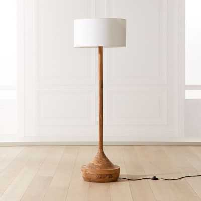 Atlas Wood Floor Lamp - CB2