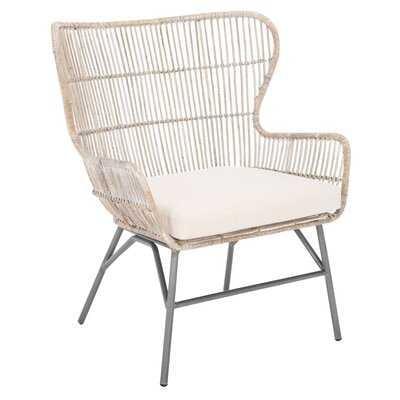 Hemmer Rattan Accent Chair W/ Cushion - Wayfair