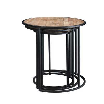 Rustic Metal Nesting Side End Tables,Set Of 3 - Wayfair