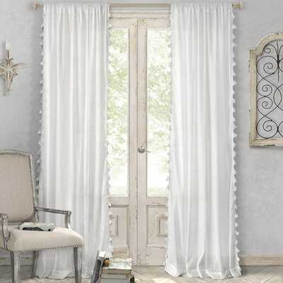 Alexis 100% Cotton Solid Semi-Sheer Rod Pocket Single Curtain Panel - AllModern