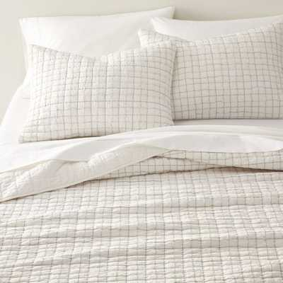 Blanche Full/Queen Box Quilt - Crate and Barrel