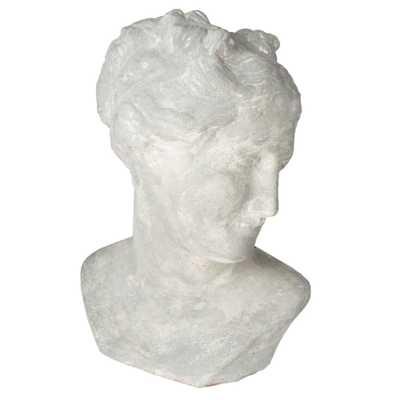 Vereen Modern Classic White Ceramic Venus Bust Sculpture - Kathy Kuo Home