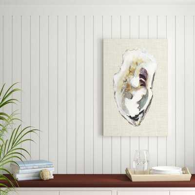 'Oyster Shell Study I' Painting on Canvas - Wayfair
