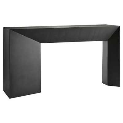 Arteriors Mckinley Industrial Loft Blackened Iron Rectangular Console Table - Kathy Kuo Home