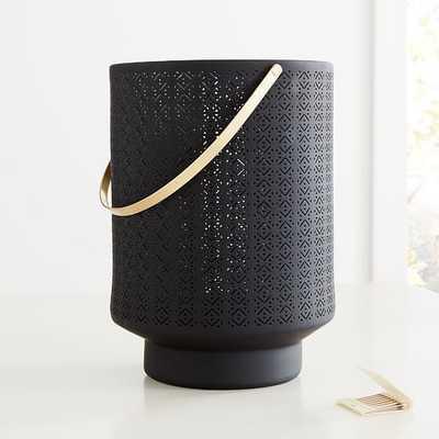 Modern Porcelain Lantern, Charcoal Gray, Large - West Elm
