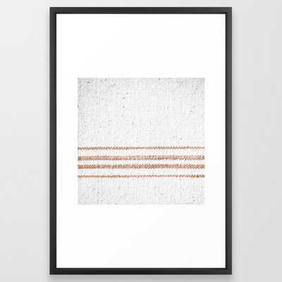 Farmhouse Grain Sack Rust Stripes Framed Art Print by Christina Lynn Williams - Vector Black - LARGE (Gallery)-26x38 - Society6