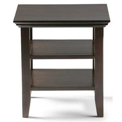 Mayna Solid Wood End Table with Storage - Wayfair