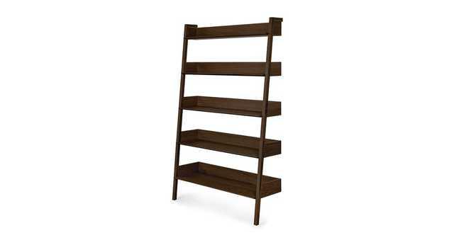 Fantol Dark Oak Wide Bookcase - Article