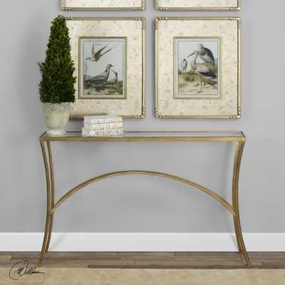 Alayna Gold Console Table - Hudsonhill Foundry