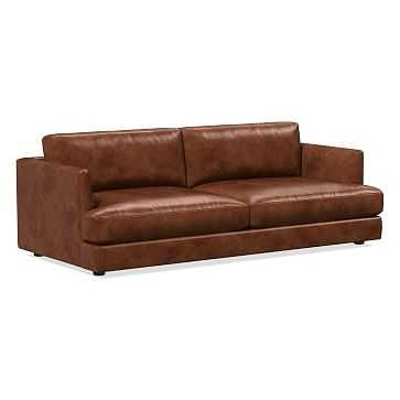 Haven Sofa, Poly, Weston Leather, Molasses - West Elm