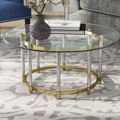 Haydel Tempered Glass Coffee Table with Tray Top - Wayfair