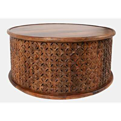 Lorraine Solid Wood Drum Coffee Table - Wayfair