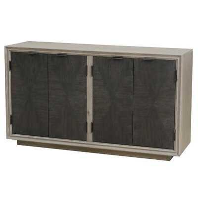 Oden Four Door Duotone Parquet Sideboard - AllModern