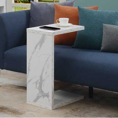 Cesari Marble Top C Table End Table with Storage - Wayfair