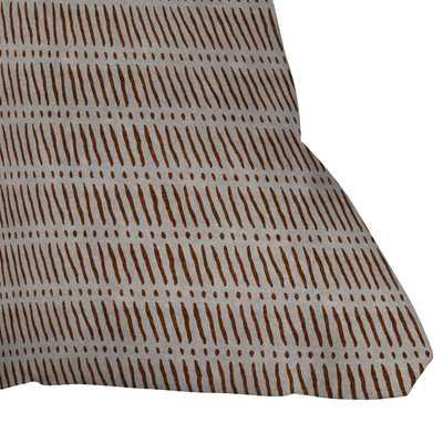 "Mud Cloth Dash Rust by Little Arrow Design Co - Outdoor Throw Pillow 16"" x 16"" - Wander Print Co."