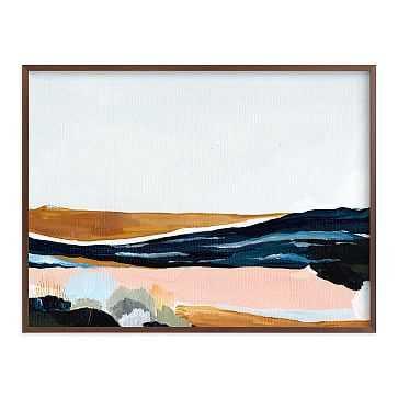 "Sandpit, Full Bleed 40""x30"", Walnut Wood Frame - West Elm"
