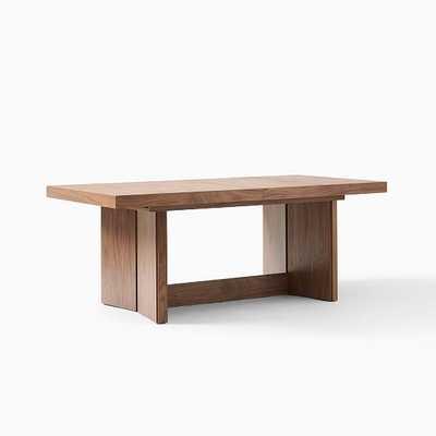 Modern Plinth Dining Table, Cool Walnut Cool Walnut - West Elm
