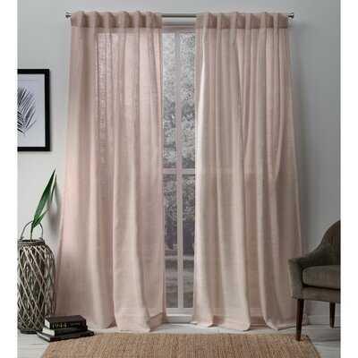 Ballycastle Solid Semi-Sheer Tab Top Curtain Panels - Birch Lane