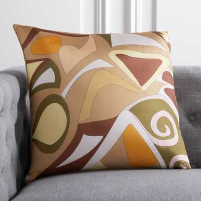 "20"" Capri Silk Pillow with Down-Alternative Insert - CB2"