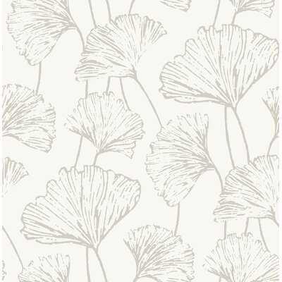 "Leslie Ginkgo 33' L x 20.5"" W Floral and Botanical Wallpaper Roll - AllModern"