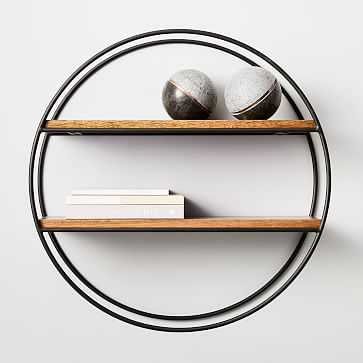 Round Wood + Metal Shelf - West Elm