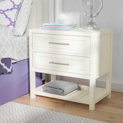 Medrano 2 - Drawer Solid Wood Nightstand - Wayfair