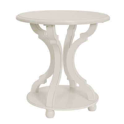 Round End Table With Storage - Wayfair