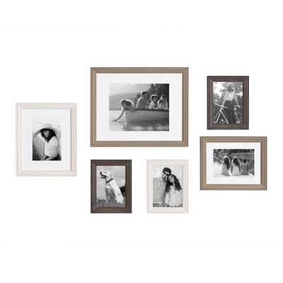 Kate and Laurel Bordeaux Multi/Gray Picture Frames (Set of 6) - Home Depot