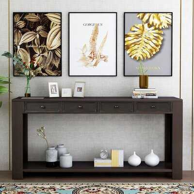 Console Table Sofa Table With Storage Drawers And Bottom Shelf For Entryway Hallway - Wayfair