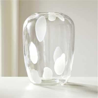 Voir Clear Glass Vase - CB2