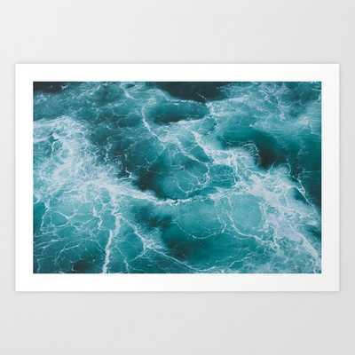 Electric Ocean Art Print by Luke Gram - X-LARGE - Society6