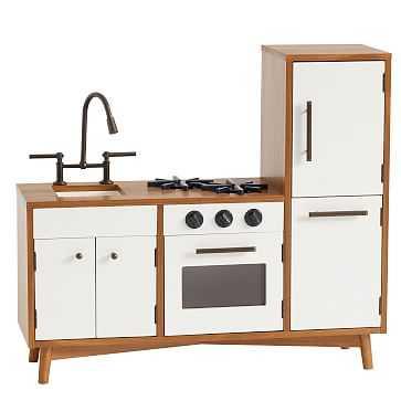 Mid-Century, Play Kitchen, Acorn + White - West Elm