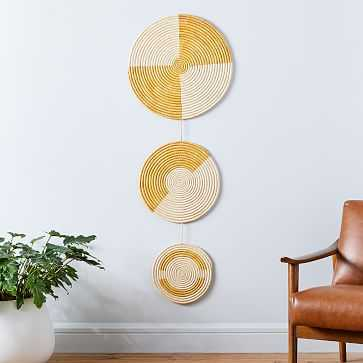 Woven Wall Hanging, Yellow, Set of 3 - West Elm