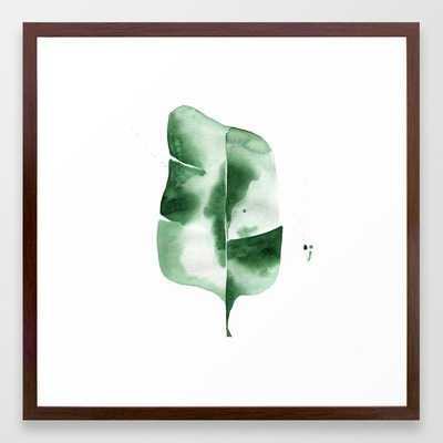 Banana Leaf No.4 Framed Art Print by The Aestate - Conservation Walnut - MEDIUM (Gallery)-22x22 - Society6