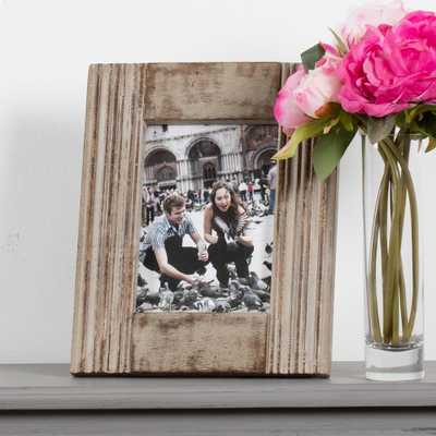 "Madeleine Home Parma 8"" x 10"" Grey Hand Carved Picture Frame Set of 1 - Home Depot"