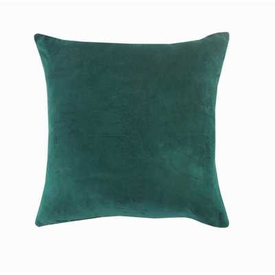 LR Home Wisdom Pine Green Solid Soft Poly-fill 20 in. x 20 in. Throw Pillow - Home Depot