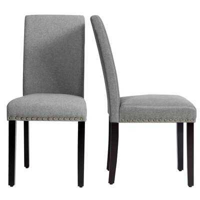 Edika Linen Parsons Chair - Wayfair
