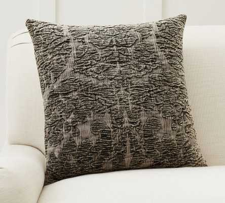 """Isabella Chenille Jacquard Pillow Cover, 20 x 20"""", Forest Green - Pottery Barn"""