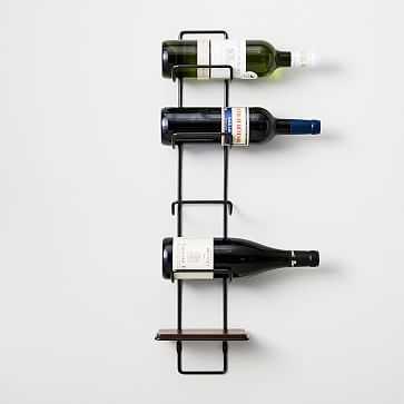 Metal Outline Wine Rack, Dark Bronze - West Elm