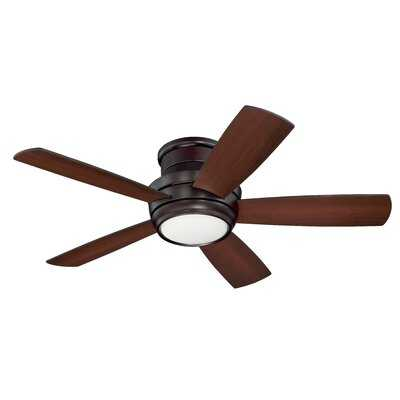 "44"" Jaron 5 -Blade Outdoor LED Standard Ceiling Fan with Remote Control and Light Kit Included - AllModern"