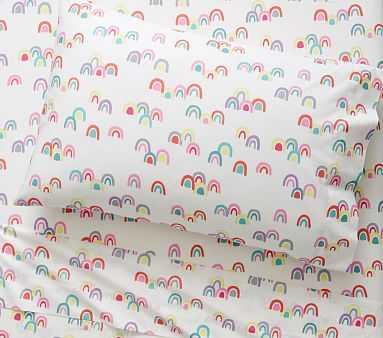 Rainbow Sheet Set, Full, Pink Multi - Pottery Barn Kids