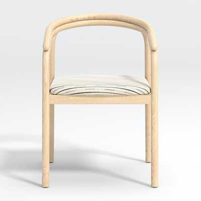 Redonda Wood Upholstered Dining Chair - Crate and Barrel
