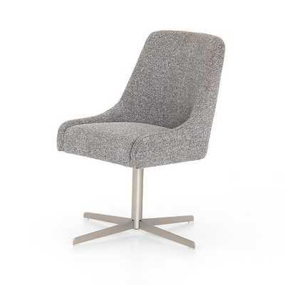 Tatum Desk Chair, Charcoal Bistrol - West Elm